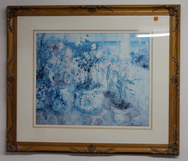 Ornamental Wood Frame w/ Blue Print
