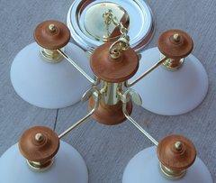 Four Globe Hanging Lamp/Chandelier
