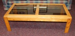 Oak and Glass Coffee Table.2