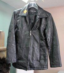 Leatherworks Ladies Small Black Leather Jacket