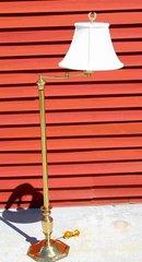 Polished Brass Floor Lamp w/ Shade
