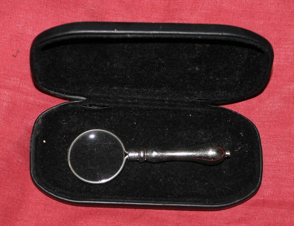 Antique Silver Magnifying Glass