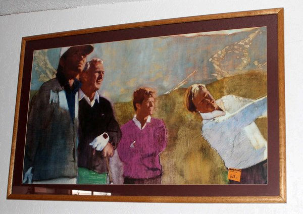 Jack Nicklaus and Others Framed Golf Print