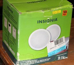 """Like New-Insignia NS-C6500 6.5"""" In-Ceiling Mounted Speakers"""