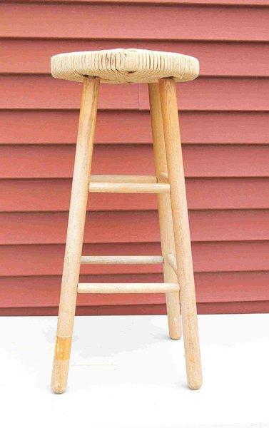 Wicker Seat Stool