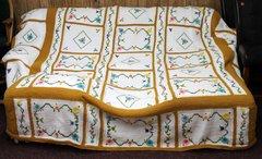 Handmade Crochet/Knit Queen/King Beadspread w/ Fitted Corners