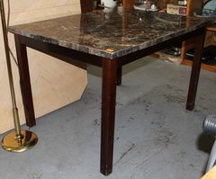 Ashley Wood Dinning Table w/ Black Laminate Top