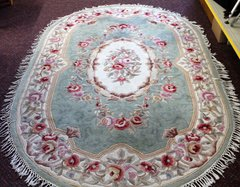 Royal Palace Handmade Oval Area Rug
