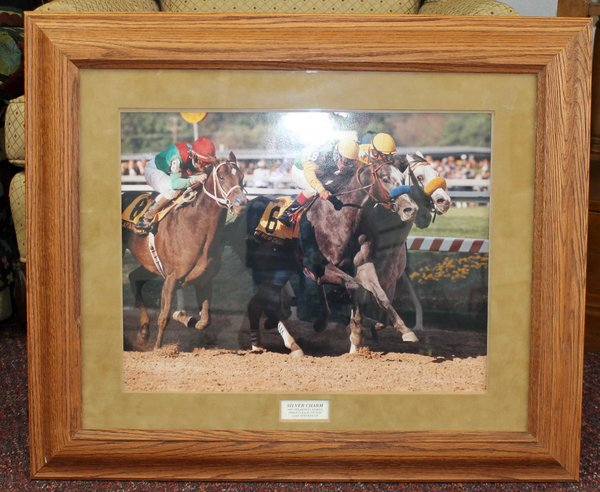 Silver Charm in 1997 Preakness Stakes Color Photo of Finish