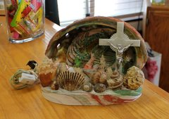 Vintage Sea Shell Lamp