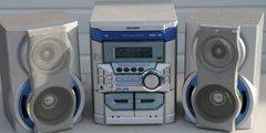 Sharp CD-BA250 Mini Component 3 disc CD, Dual Cassette, Radio, Clock/Alarm