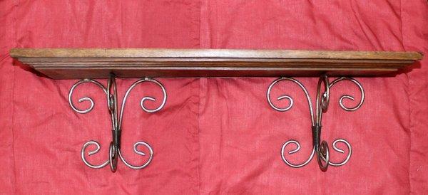 Wood and Metal Decorator Shelves