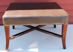 Brown Leather Otoman