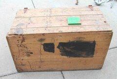 Large Wood Storage Box