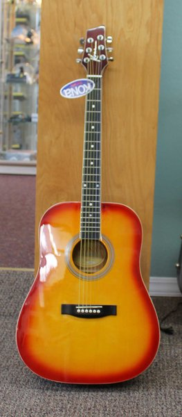 NEW-Kona K41CSB Dreadnought Acoustic Guitar w/ Case