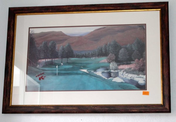 Harrington Golf Wood Framed Print