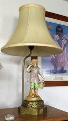 Lady Lamp w/ Brass Base