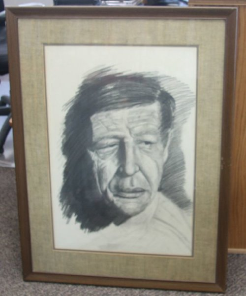 American Indian Man Large Framed Picture
