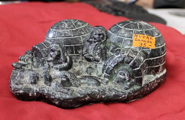Nuvak Canada Igloo and Eskimo Sculpture