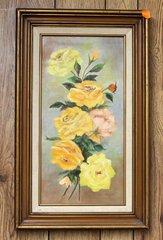 Roses Framed Oil Painting by Caliva