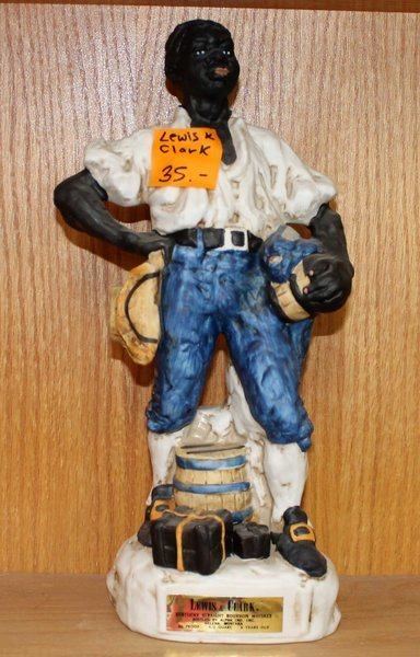 1972 Lewis and Clark Exploration Series by Gary Schildt Porcelain Whiskey Decanter