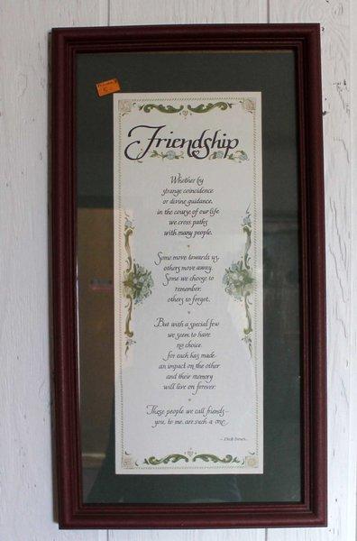 Freindship Framed Inspiration