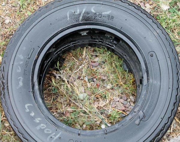 5.30 X 12 Nanco Trailer Tire--25% Tread