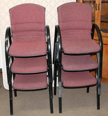 GF Office Furniture Stacking Chairs w/ Back Support