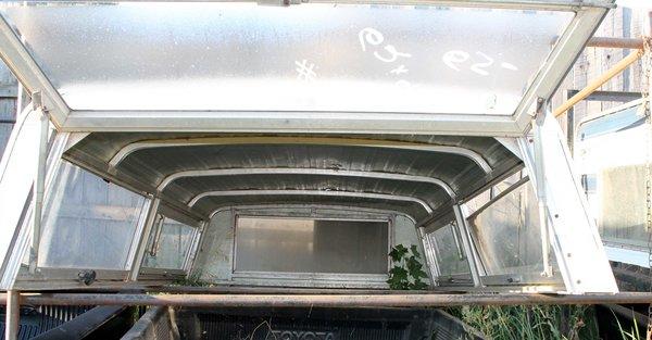 """Cole White Aluminum Topper  97""""L x 62""""W x 20 1/2""""H"""