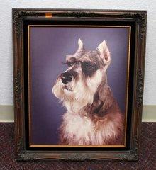 Ornate Wood Frame w/ Schnauzer Photo