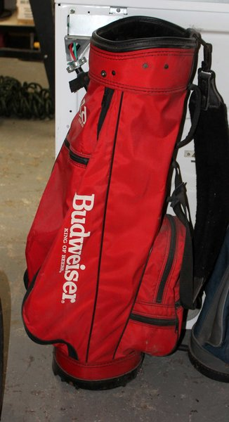 Red Budweiser Golf Bag