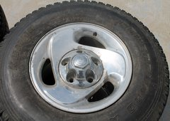"LT 235/85R16 Dodge 1/2 Ton 4X4 Stock 16"" Wheels w/ Caps and  Tires x 4"