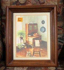 Old Kitchen Wood Framed Print