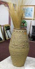 Ceramic Vase w/ Grass