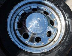 "American Racing 15"" Chrome Wheels-8 Slot Multi Fit 5 Hole"