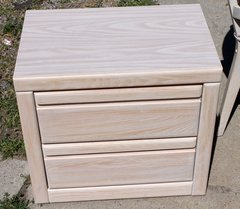 Chest of 2 drawers USA Made Off White Nightstand