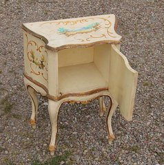 Antique Hand Painted Night Table