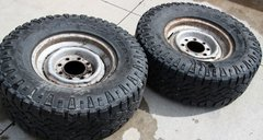 2x Goodyear Wrangler LT265/75R16 on 8 Hole Steel Wheel