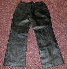 Veranesi Black Leather Pants