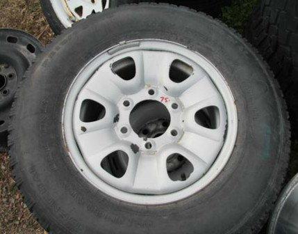 6 Lug/6 Slot  P215/75 R15-15'' Steel Wheel and Tire 95% Tread