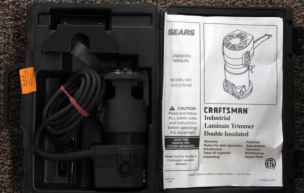LIKE NEW_Sears Craftsman Industrial Laminate Trimmer Double Insulated