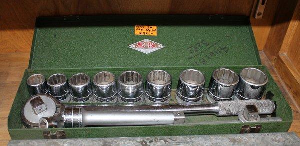 12pc S-K Tools 3/4 Socket Set- USA