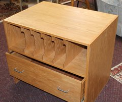 Oak Office Cabinet w/ Drawer filing and 6 Slot Open filing
