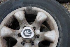 6 Lug/6 Slot Aluminum Wheels--LT 245/75R16 Bridgestone
