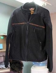 Harley Davidson FXRG Men's Medium Black Fleece Jacket
