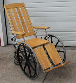 Gendron 934 Wood/Chrome Wheelchair