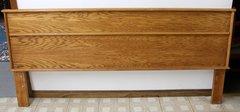Solid Panel Oak King Headboard