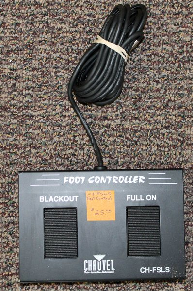 Chauvet CH-FSLS Light System Foot Pedal Switch Controller Live Stage
