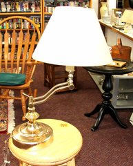Desk Brass Lamp with Adjustable Arm