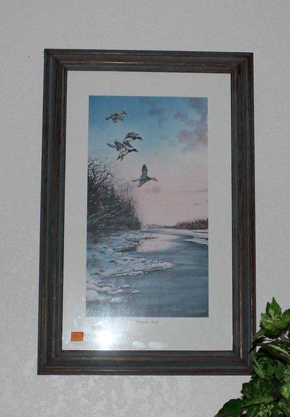 """""""Waiting for Spring"""" Ducks Framed Print by Ned Ewell"""